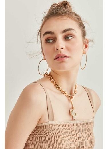 Vitrin Askılı Gipeli Batik Elbise Vizon